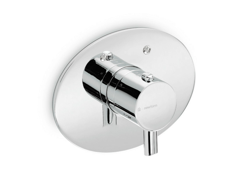 Thermostatic shower mixer with plate EL-X | Thermostatic shower mixer - NEWFORM