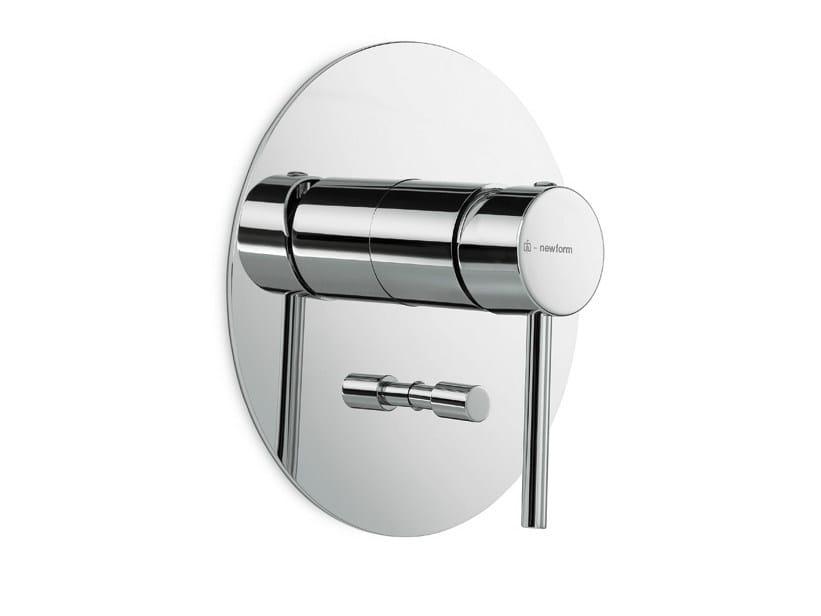 Wall-mounted single handle bathtub mixer with plate MINI-X | Wall-mounted bathtub mixer - NEWFORM