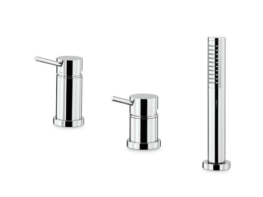 3 hole bathtub mixer with hand shower X-TREND | 3 hole bathtub set - NEWFORM