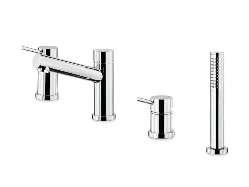 4 hole bathtub mixer with hand shower X-TREND | 4 hole bathtub set by NEWFORM