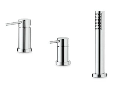 3 hole bathtub mixer with hand shower XT | 3 hole bathtub set - NEWFORM