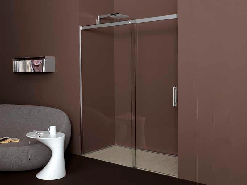 Box doccia a nicchia in vetro temperato raso filodoccia for Doccia a muro