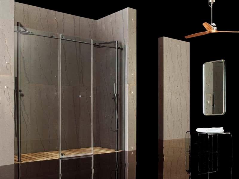 Niche tempered glass shower cabin RASO-FILODOCCIA PIVOT 2F - MEGIUS