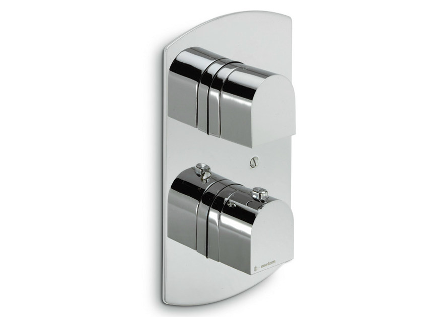 Thermostatic shower mixer with plate X-LIGHT | Thermostatic shower mixer with plate - NEWFORM
