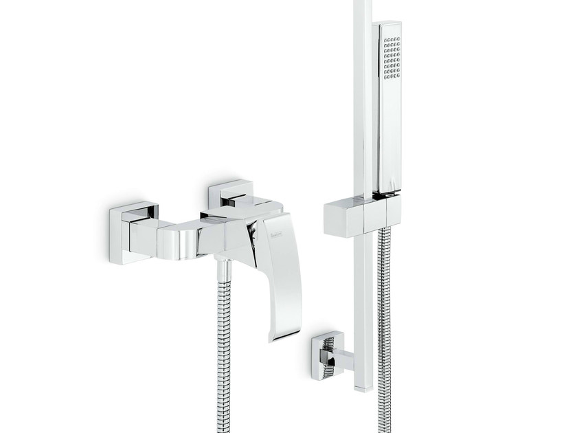 2 hole single handle shower mixer with hand shower X-SENSE | Shower mixer with hand shower - NEWFORM