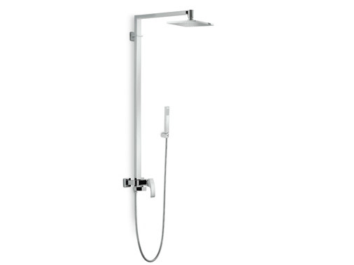 Shower mixer with hand shower with overhead shower X-SENSE | Shower mixer with overhead shower - NEWFORM