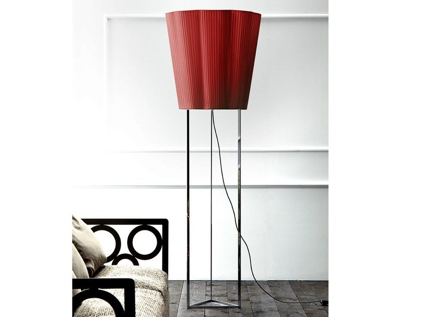 Indirect light satin floor lamp FIORE | Floor lamp - ERBA ITALIA