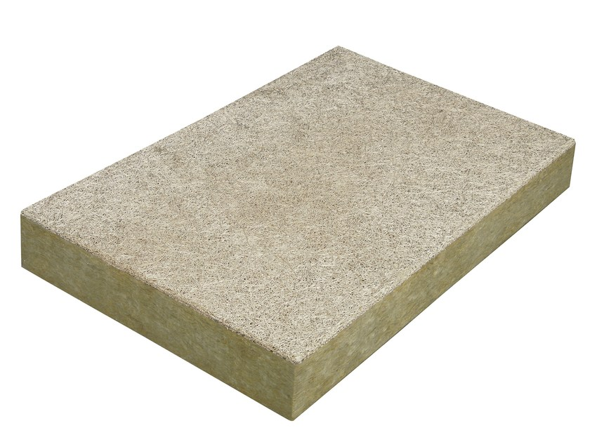 Cement-bonded wood fiber thermal insulation panel THERAROCK™ - KNAUF INSULATION - Chivasso