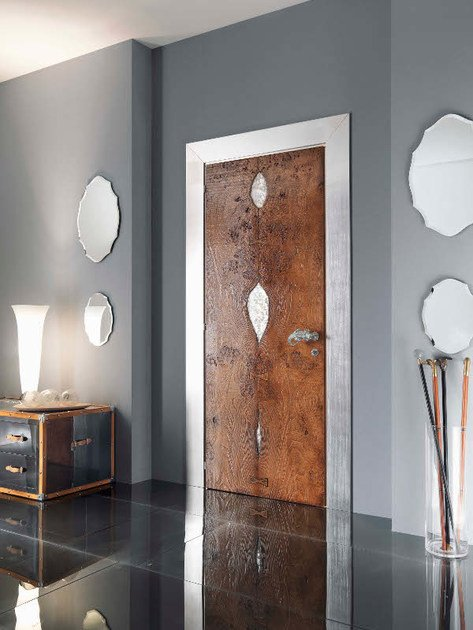 Hinged wooden door SIDNEY | Wooden door - Bizzotto