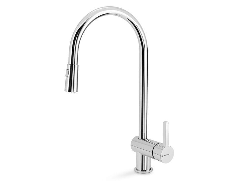 Kitchen mixer tap with pull out spray ERGO KITCHEN | Kitchen mixer tap by newform