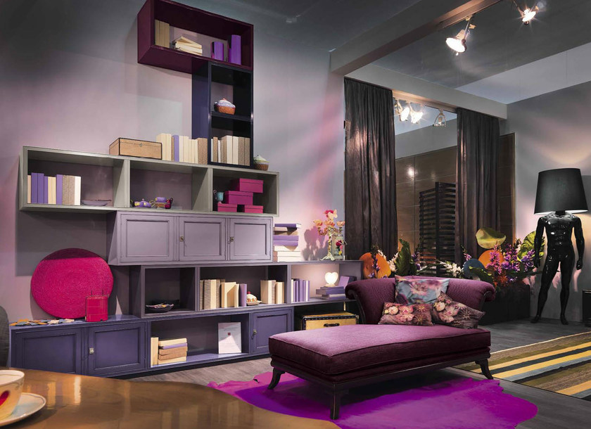 Sectional wooden storage wall HAPPY | Storage wall - Bizzotto