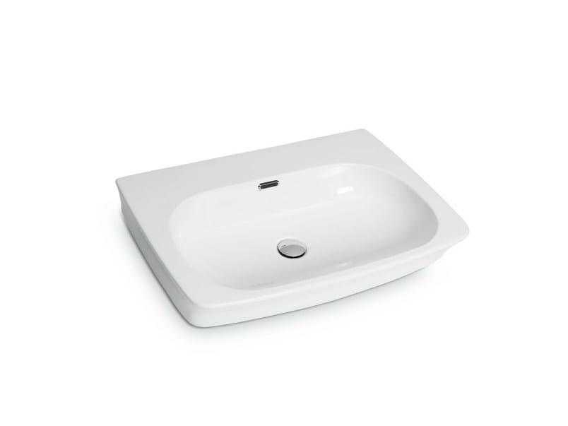 Countertop rectangular wall-mounted washbasin WASHBASINS | Washbasin - NEWFORM