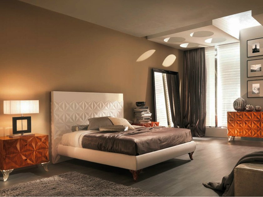 Leather double bed DIAMOND | Double bed by Bizzotto