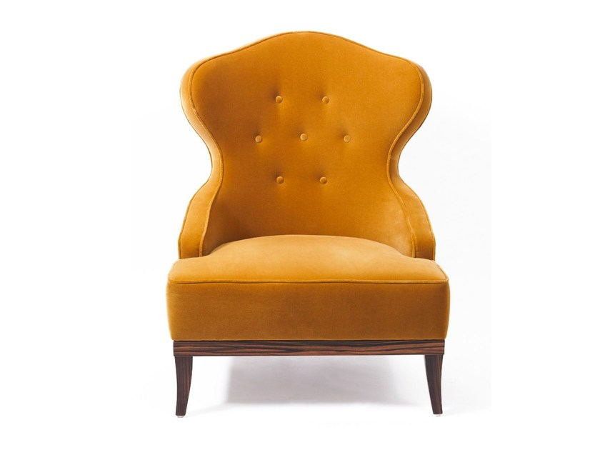 Upholstered wingchair CANDY | Armchair - Munna