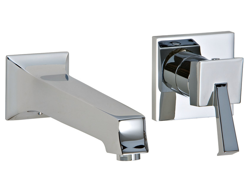 Wall-mounted washbasin mixer BRIDGE_MONO | Wall-mounted washbasin mixer - Rubinetterie 3M