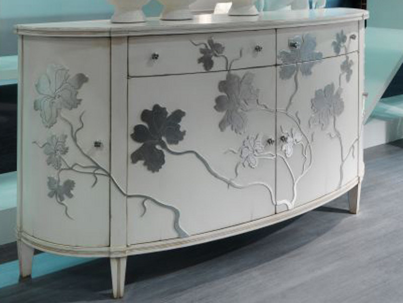 Lacquered sideboard with doors IRIS | Sideboard - Bizzotto