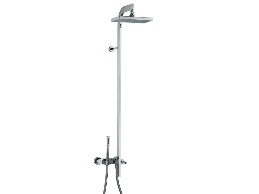 Shower mixer with hand shower and overhead shower CUT | Shower panel - Rubinetterie 3M