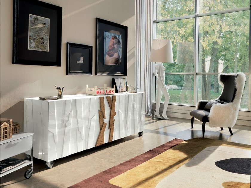 Lacquered sideboard ANCORAGE - Bizzotto