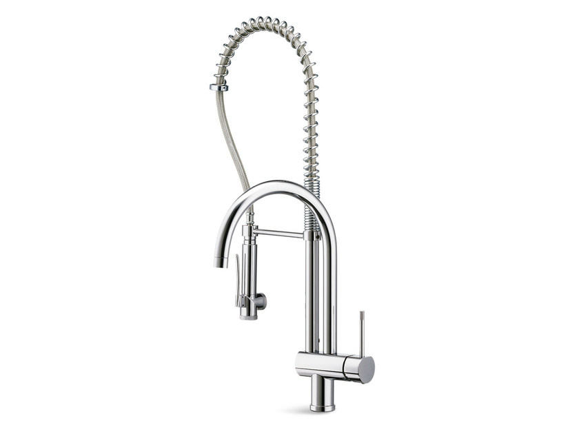 Countertop kitchen mixer tap with swivel spout with spray MOONY | Kitchen mixer tap with spray - NEWFORM