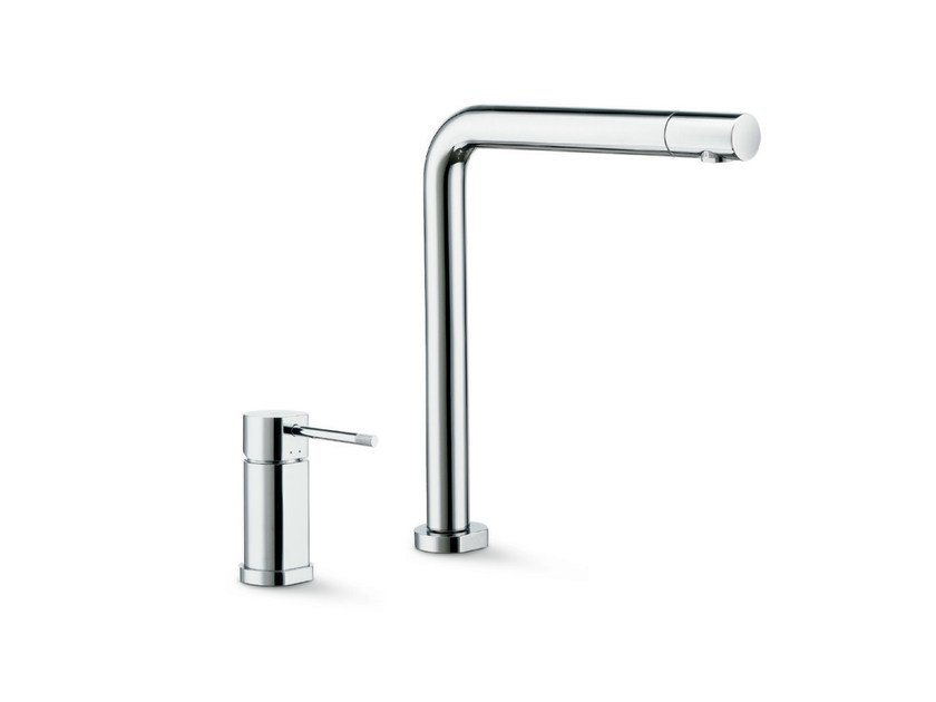 2 hole countertop kitchen mixer tap with swivel spout MOONY   2 hole kitchen mixer tap by newform