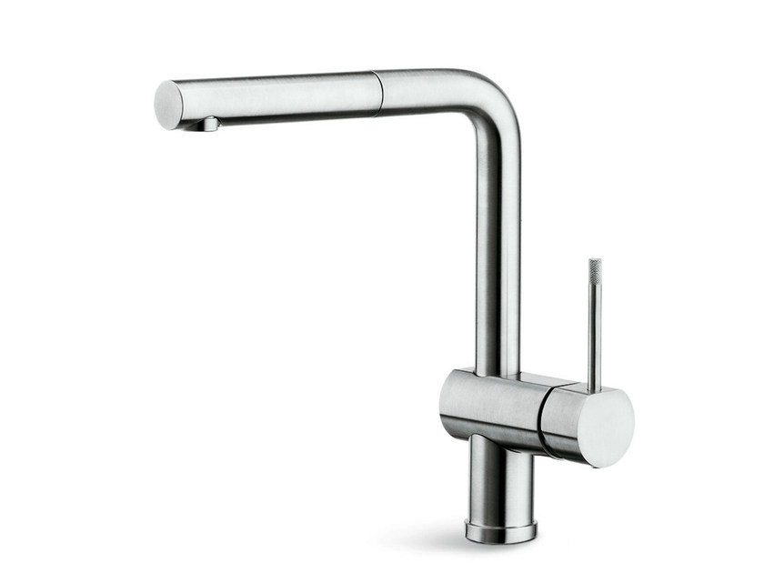 Countertop kitchen mixer tap with swivel spout with pull out spray MOONY | Countertop kitchen mixer tap - NEWFORM