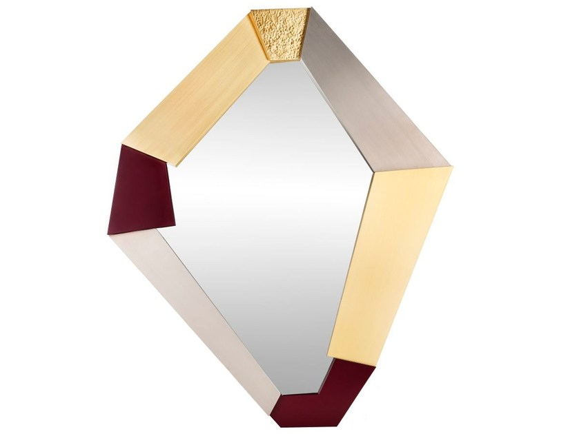 Wall-mounted framed mirror FRAGMENTS - Ginger & Jagger