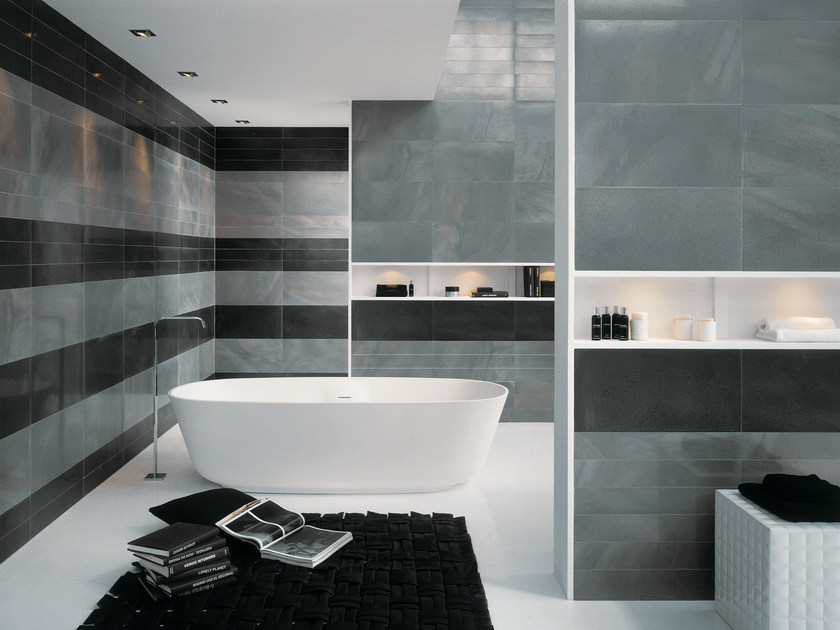 Ceramic wall tiles with metal effect STEELWORK | Wall tiles - Ceramica Fioranese