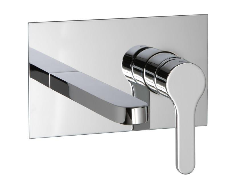 Wall-mounted washbasin mixer with plate KLAB | Washbasin mixer with plate - Rubinetterie 3M