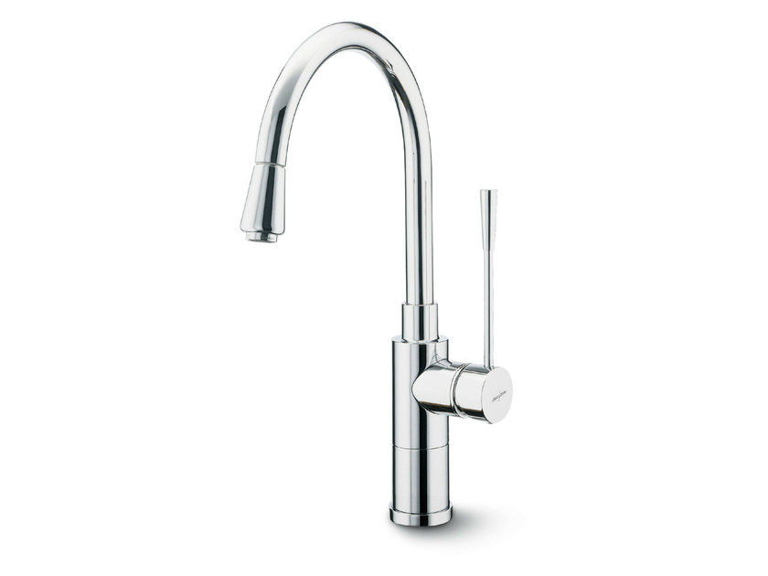 Kitchen mixer tap with swivel spout with pull out spray X-TREND KITCHEN | Kitchen mixer tap by newform