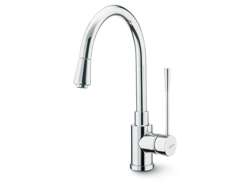 Kitchen mixer tap with swivel spout with pull out spray X-TREND KITCHEN | Kitchen mixer tap with swivel spout - NEWFORM
