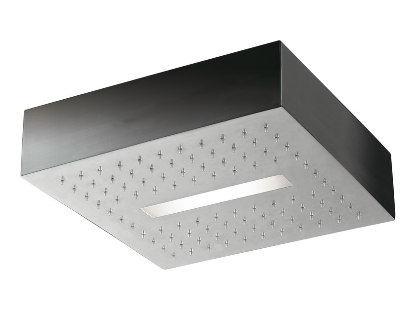 LED overhead shower for chromotherapy LIGHT | Ceiling mounted overhead shower by Rubinetterie 3M