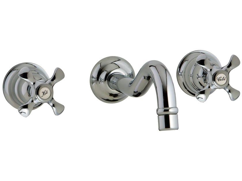3 hole wall-mounted washbasin tap NUOVA RETRÒ | Wall-mounted washbasin tap - Rubinetterie 3M