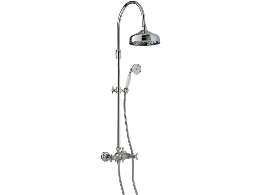 Shower panel with diverter with overhead shower NUOVA RETRÒ | Shower panel with diverter - Rubinetterie 3M
