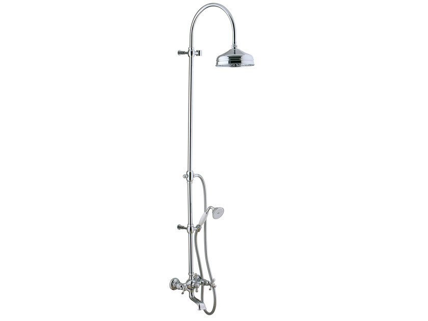 Shower panel with overhead shower NUOVA RETRÒ | Shower panel with overhead shower - Rubinetterie 3M