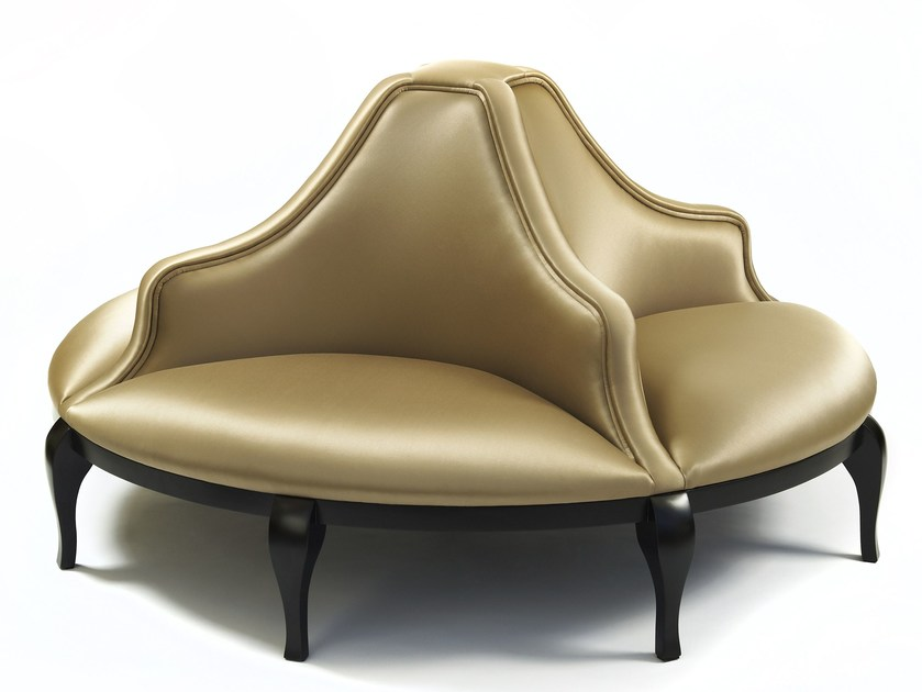 Round upholstered bench MADELEINE - Munna