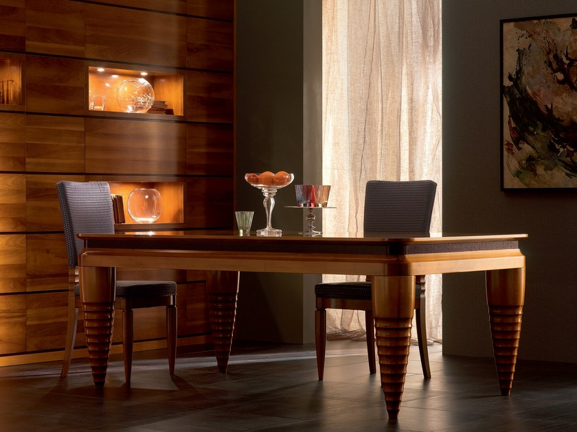 Extending rectangular solid wood table ELETTRA DAY | Extending table - Cantiero
