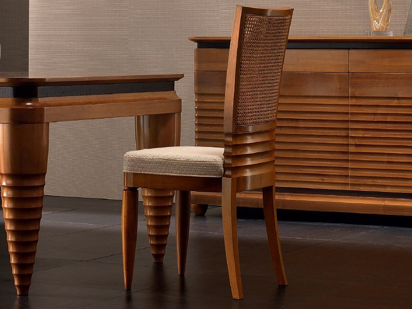 Upholstered walnut chair ELETTRA DAY | Chair - Cantiero
