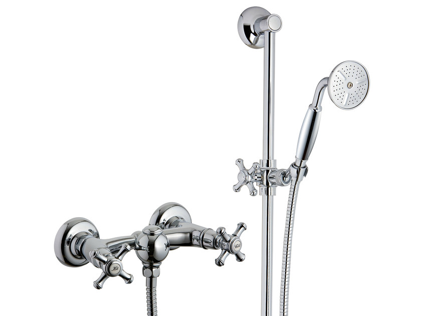 2 hole shower tap with hand shower OLD ITALY | Shower tap with hand shower by Rubinetterie 3M