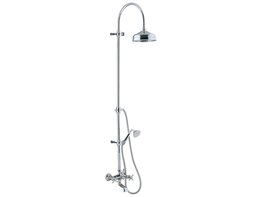 Wall-mounted shower panel with overhead shower OLD ITALY | Shower panel - Rubinetterie 3M