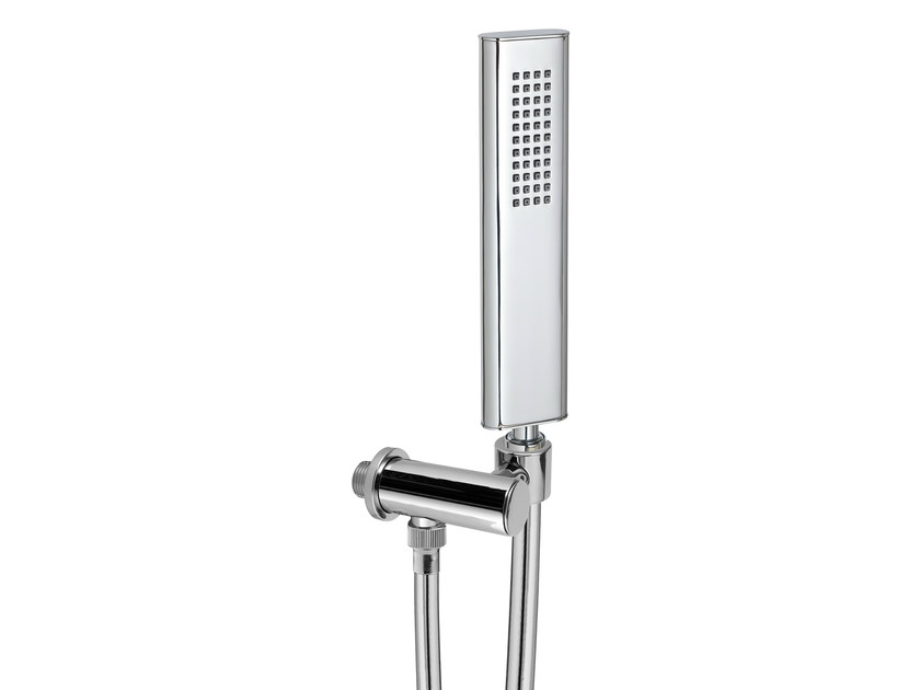 Handshower with hose with anti-lime system with bracket PAO_SPA | Handshower with bracket by Rubinetterie 3M