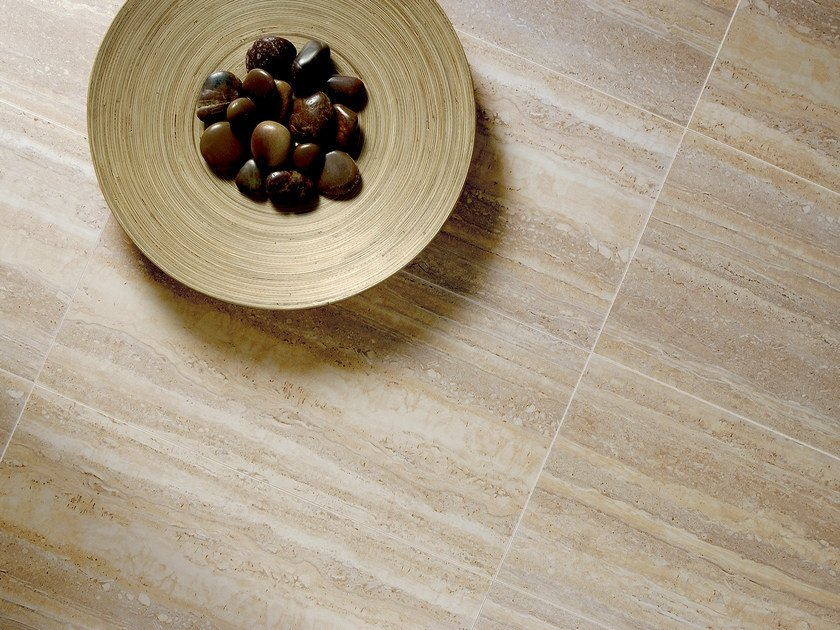 Porcelain stoneware flooring NU_TRAVERTINE IN FALDA | Flooring - Ceramica Fioranese