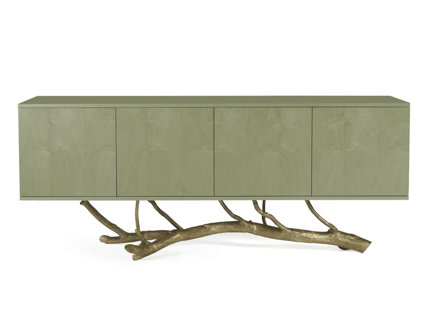 Lacquered wood veneer sideboard with doors MAGNOLIA - Ginger & Jagger