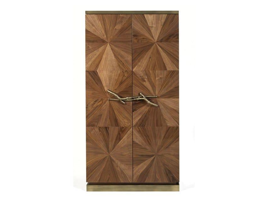 Wood veneer wardrobe WALNUT | Wardrobe - Ginger & Jagger