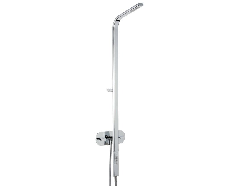 Wall-mounted shower panel with overhead shower PAO_JOY | Shower panel with overhead shower - Rubinetterie 3M