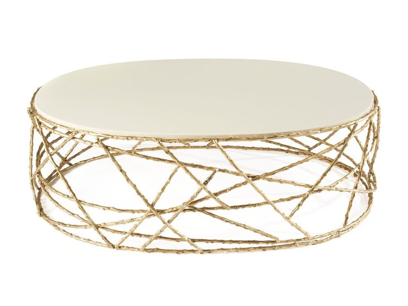 Oval coffee table for living room ROSEBUSH | Oval coffee table by Ginger & Jagger