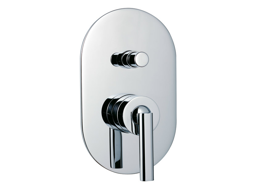 Single handle shower mixer with plate PAO_JOY | Shower tap with plate - Rubinetterie 3M