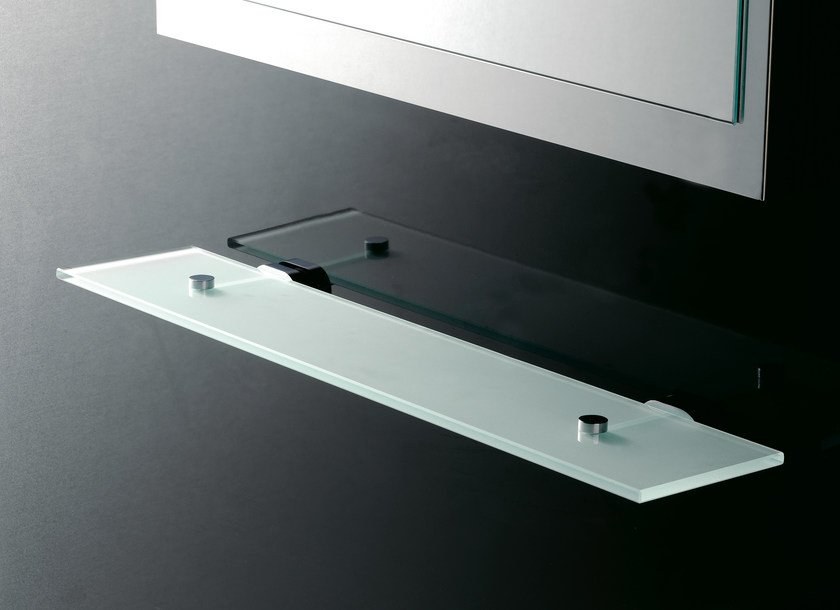Satin glass bathroom wall shelf 8100 | Bathroom wall shelf - Rubinetterie 3M