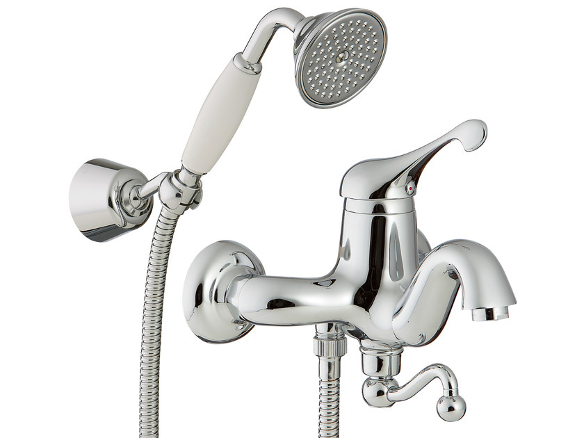 Wall-mounted bathtub mixer with hand shower PICCADILLY | Wall-mounted bathtub mixer by Rubinetterie 3M