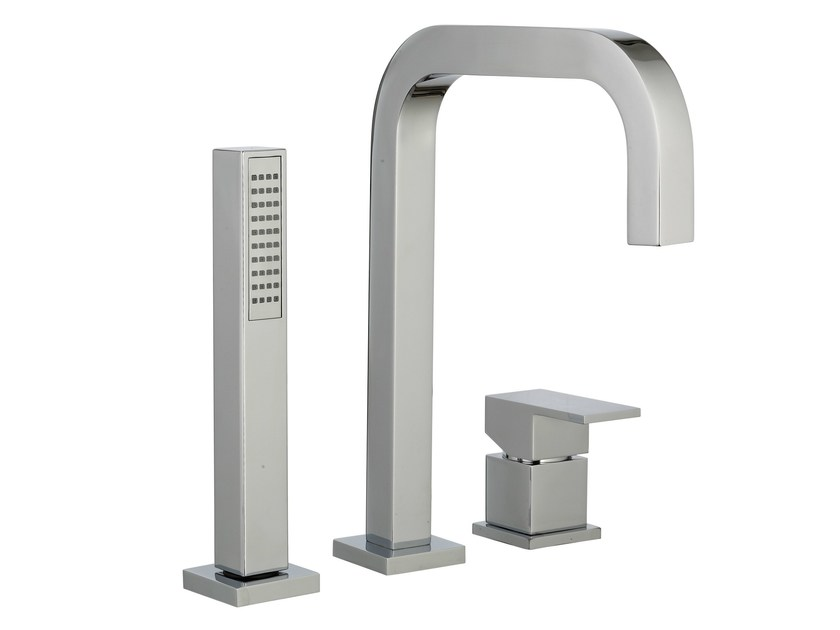 3 hole bathtub set with hand shower Q | 3 hole bathtub set - Rubinetterie 3M