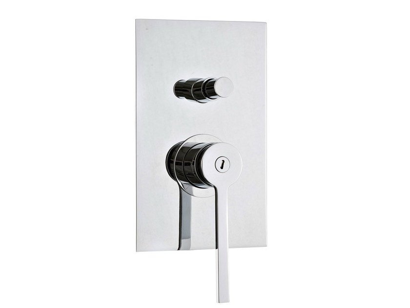 Single handle shower/bath mixer with plate TIME | Shower mixer with plate by Rubinetterie 3M